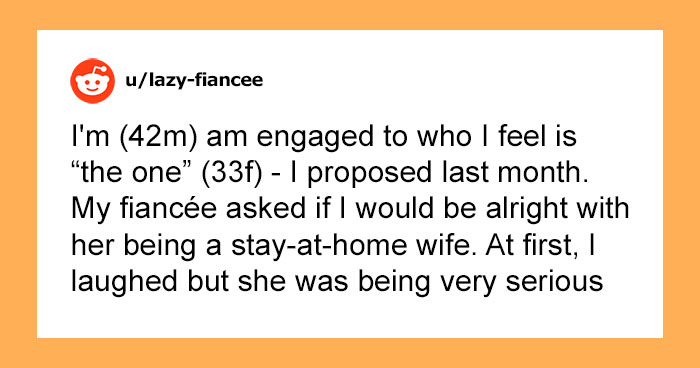 Woman Tells Her Fiancé She Wants To Be A Stay-At-Home Wife, And They Get Into A Heated Argument