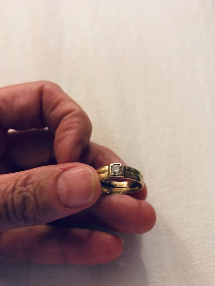 This Weddingring From My Grandparents, They Married January 9th, 1919.