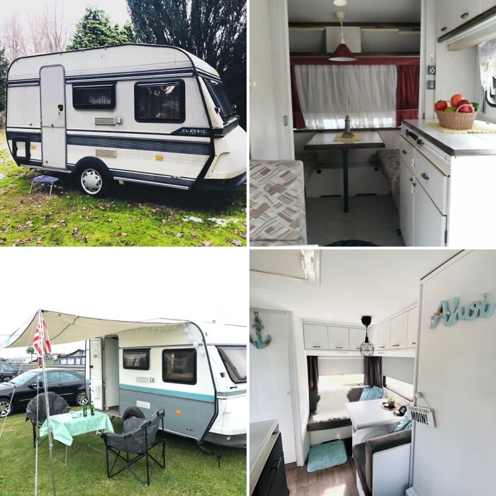 Our Caravan From 1989. Three Months And A Lot Of Paint