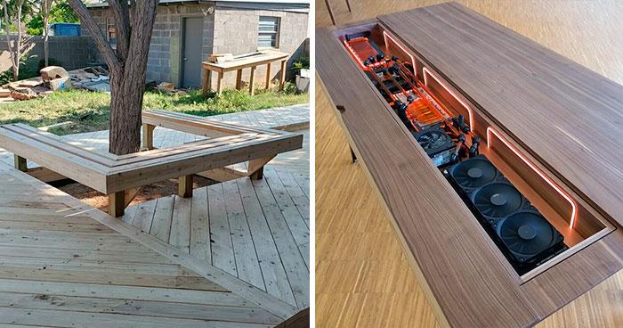 Estas 40 personas llevan a la carpintería a otro nivel y comparten sus resultados en este grupo (nuevas imágenes)