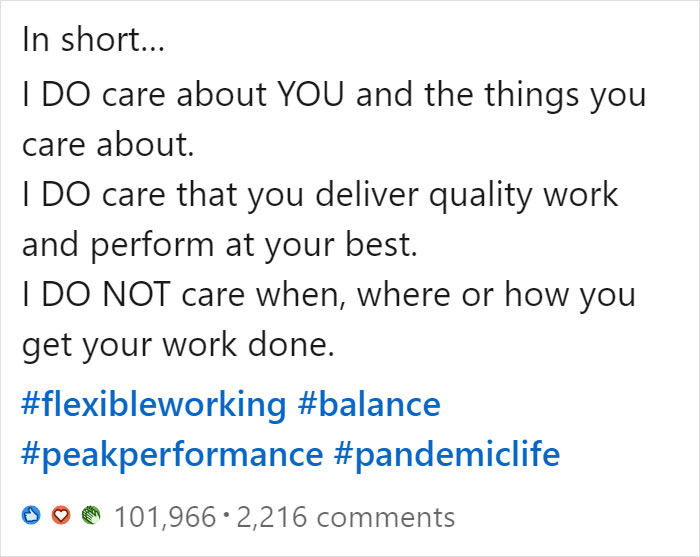 Manager Lists All The Things She Does And Doesn't Care About Employees, And Her Post Goes Viral