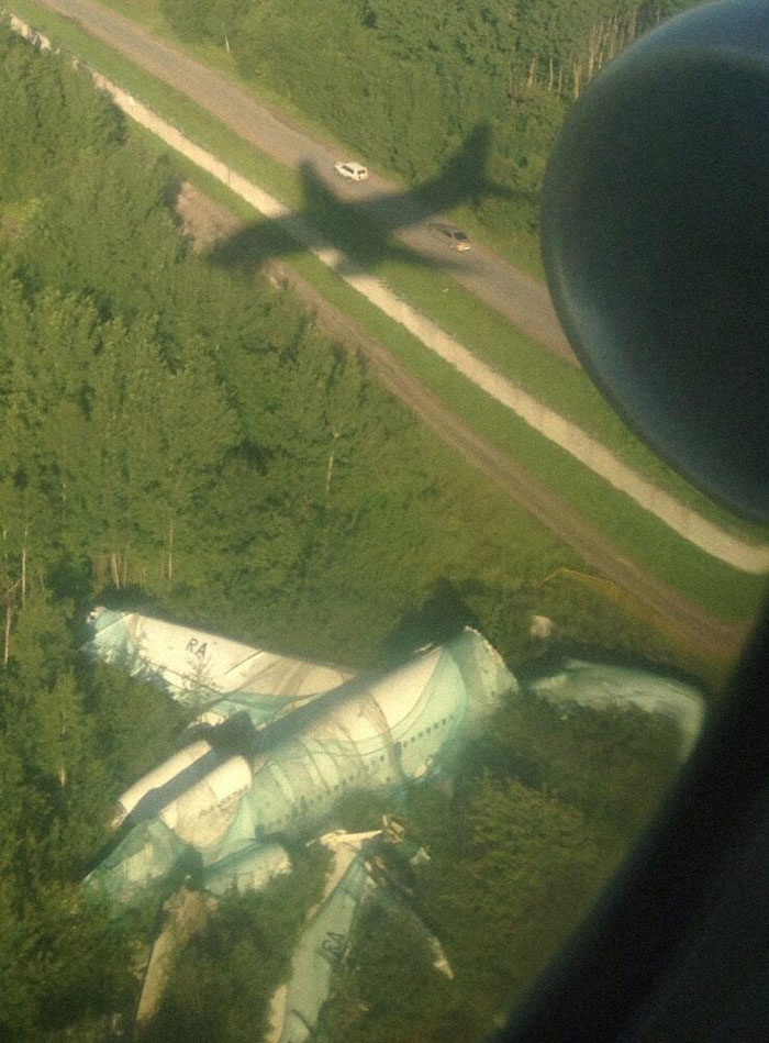 Not Exactly What You Want To See Coming Into Land At A Russian Airport