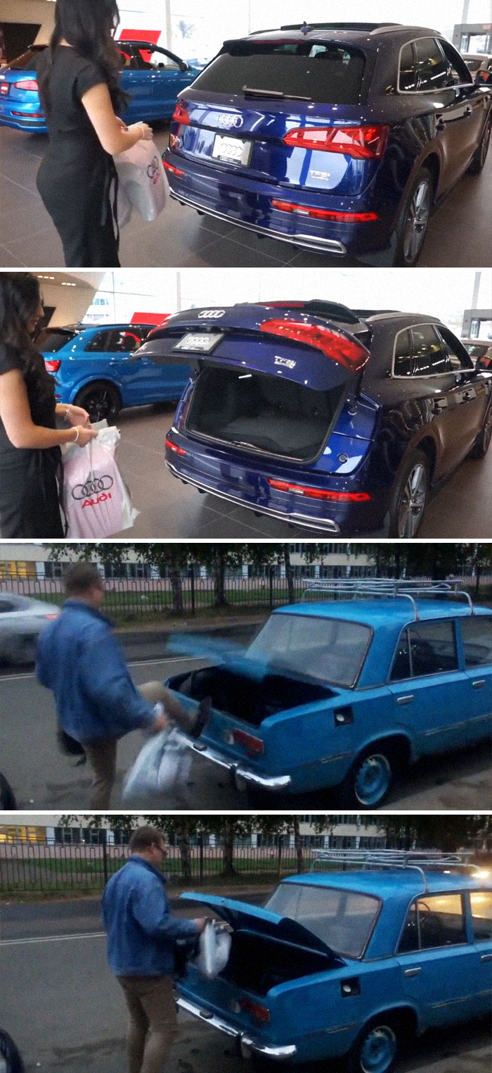 Russian Hands-Free Trunk Opening Feature