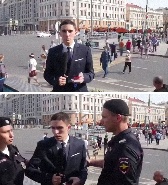 Opposition Activist Arrested While Reporting Live About Arrests Of Opposition Activists