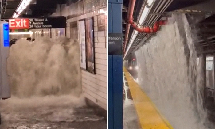 30 Photos From The Apocalyptic Flooding That Hit New York City