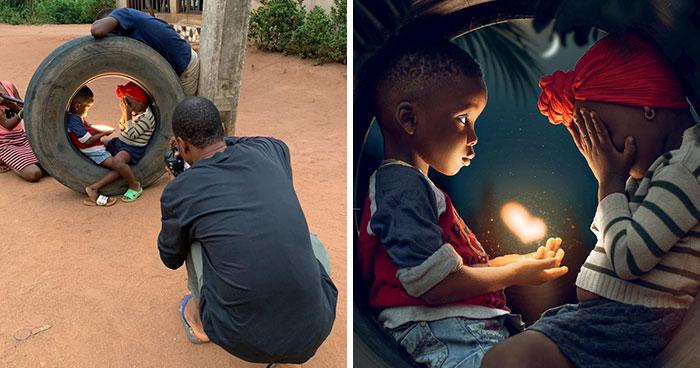 Este fotógrafo nigeriano expone la verdad tras sus fotos dignas de instagram (30 imágenes)