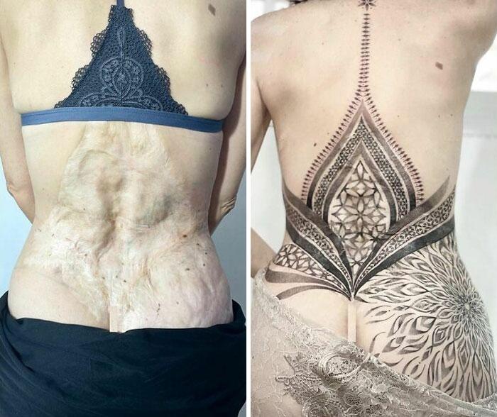 El tatuaje más significativo que he hecho. Cubrir una cicatriz para esta increíble mujer. No tengo palabras para describir este proceso