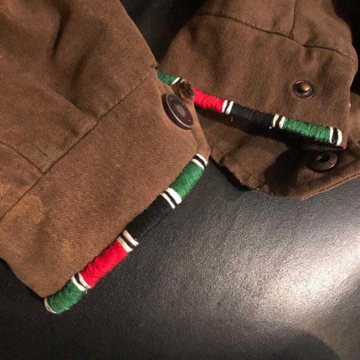Remendé la chaqueta de mi esposo con los colores de la bandera de Kenia