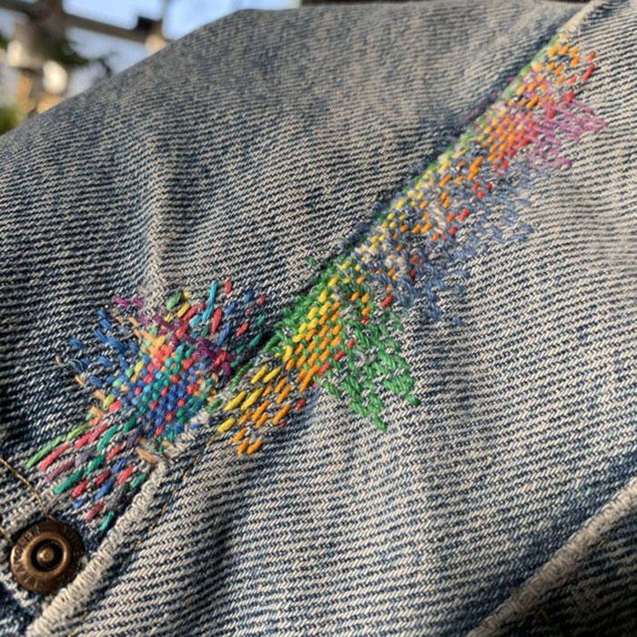 Un zurcido multicolor para mis viejos pantalones