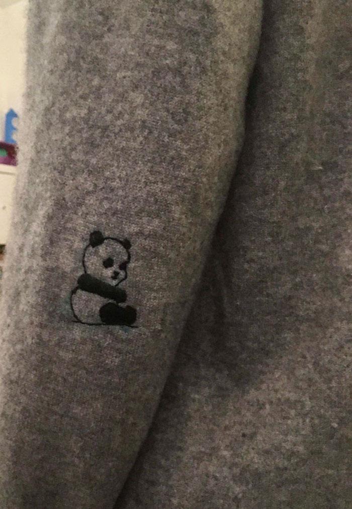 Cuando la vida te de un agujero en el suéter, hazle un pequeño panda