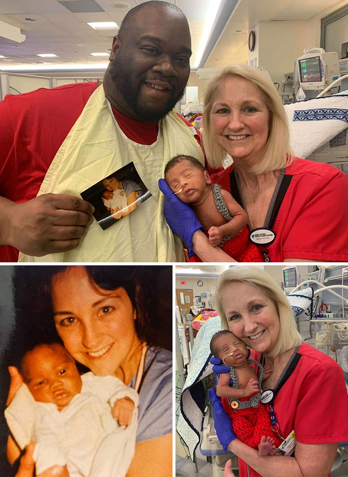 This Father And Son Were Treated By The Same Nurse At NICU More Than 30 Years Apart