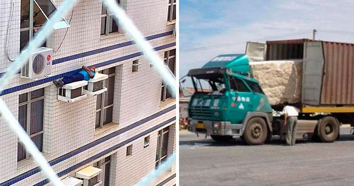 30 Ejemplos terribles de seguridad laboral, compartidos en este grupo online (nuevas fotos)