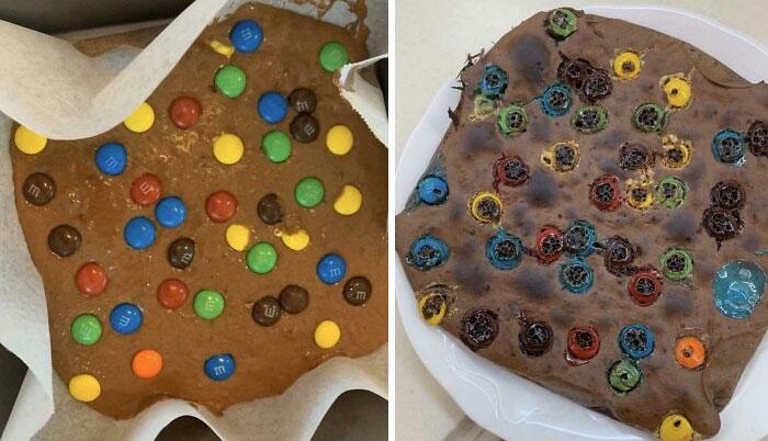 Mis brownies se ven como esas fotos donde te muestran los daños que te provoca una adicción