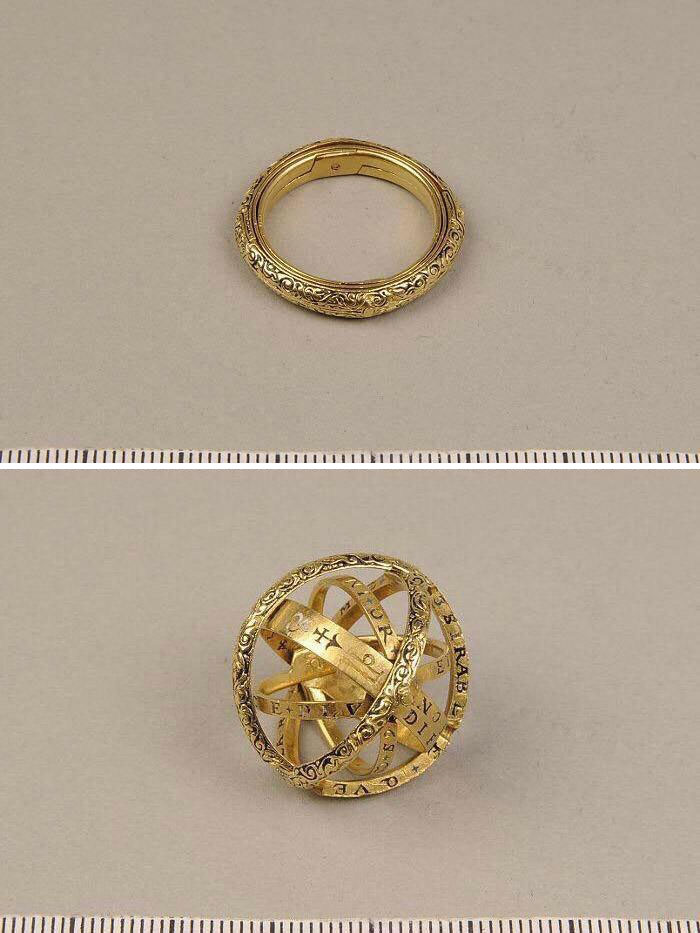 16th Century Ring That Turns Into An Astronomical Sphere