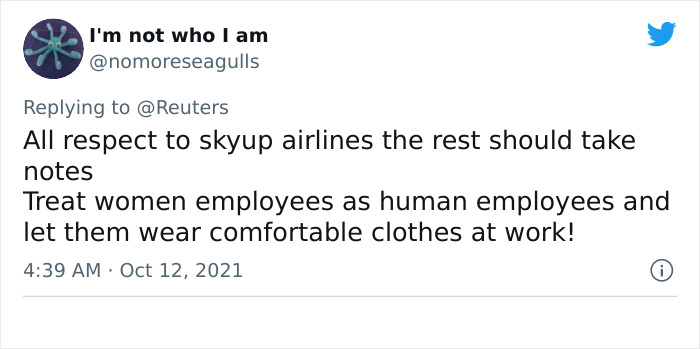 This Airline Is Throwing Out Their Heels And Skirt Uniform And Introducing A New 'Comfort' Look