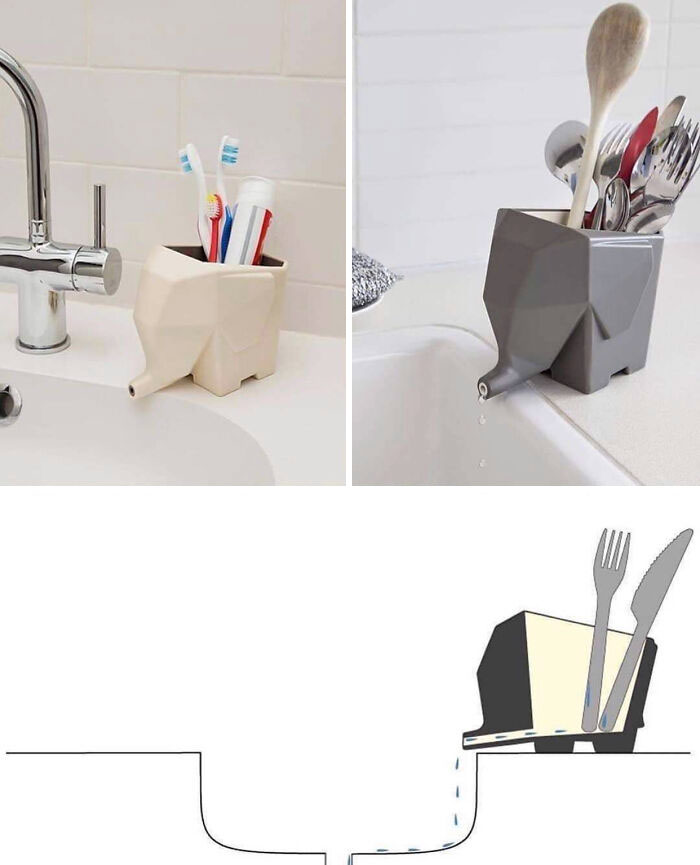 Toothbrush Holder That Drains Into The Sink