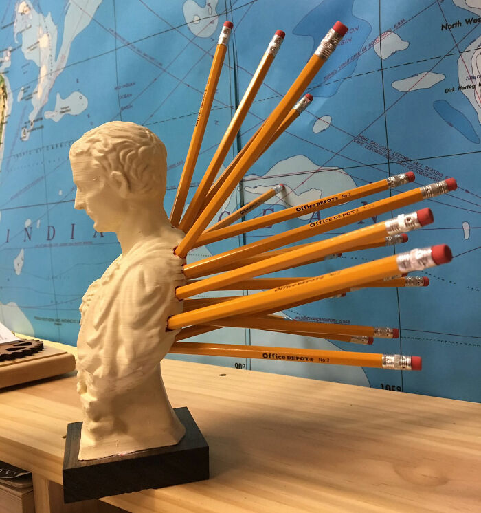 Julius Cesar Pencil Holder