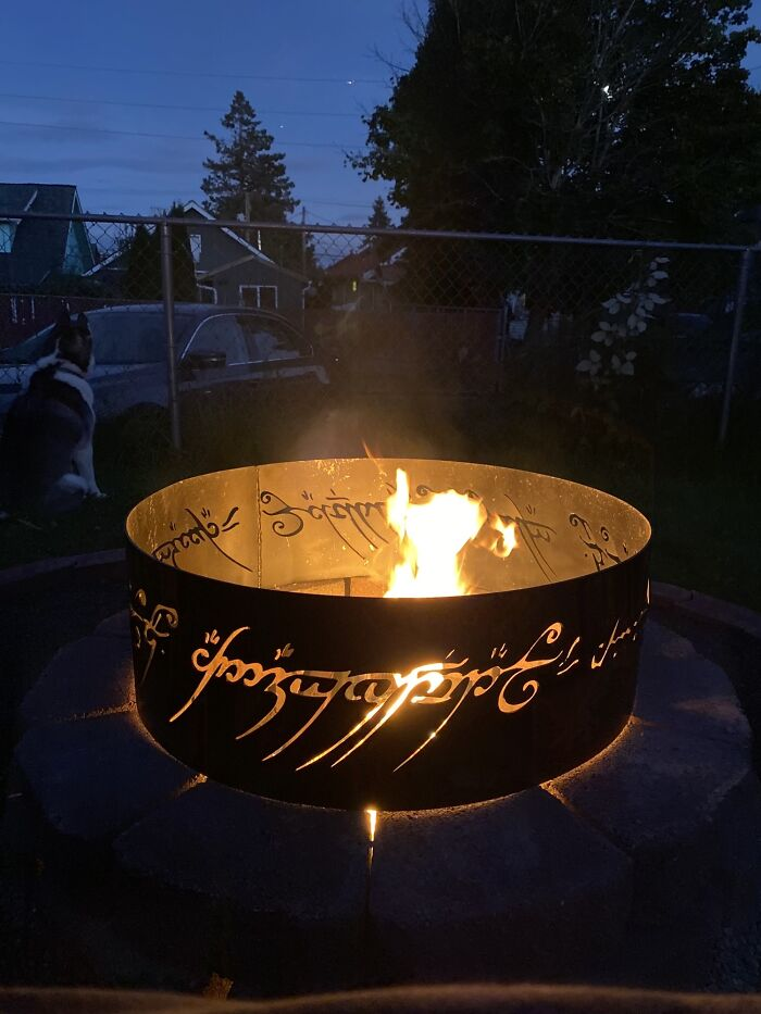 Lord Of The Rings One Ring Firepit