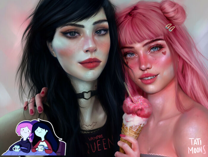 Marceline And Princess Bubblegum From Adventure Time