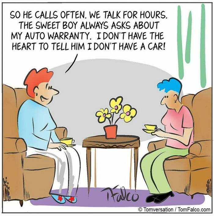 Funny Stories Told With Only One Panel By 'Tomversation'
