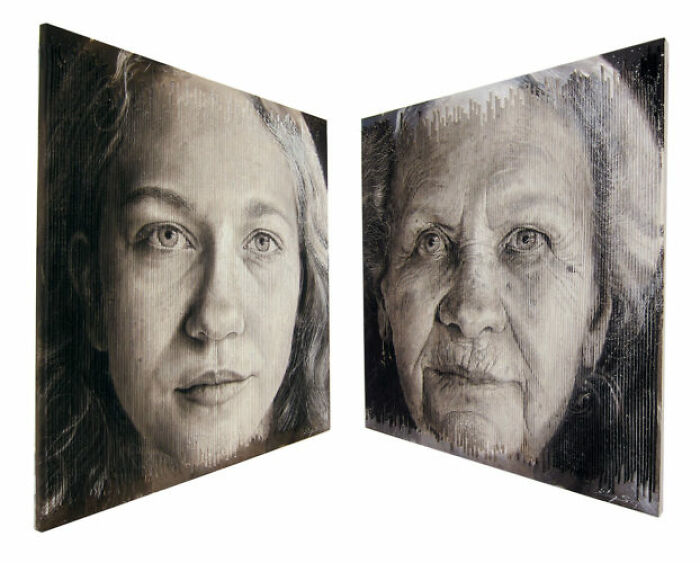Changing Portraits That Can Be Experienced Not Only In Harry Potter: Optical Art By Sergi Cadenas