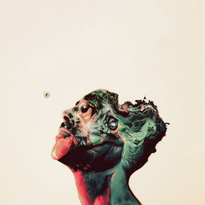 Self-Portrait (Photo Manipulation + Generative Art)
