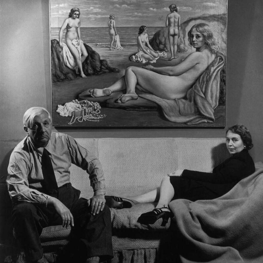 Giorgio De Chirico With His Wife