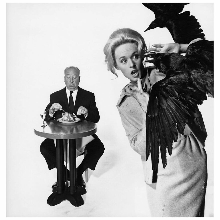 Alfred Hitchcock And Tipi Hedren