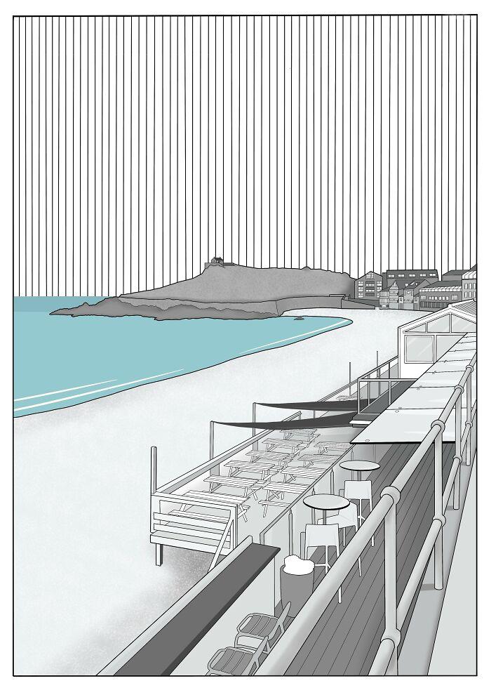 Porthmeor Beach, St Ives, Cornwall UK