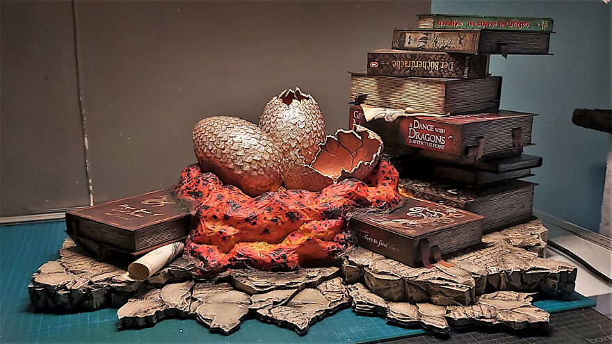 I Created Dragon Book Lamp To Try Out Some New Techniques