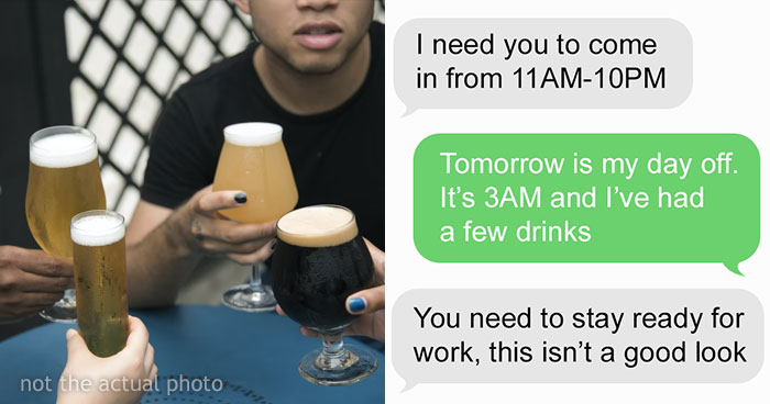 Boss Criticizes Bartender For Drinking During His Day Off, Changes His Tone Immediately When They Quit