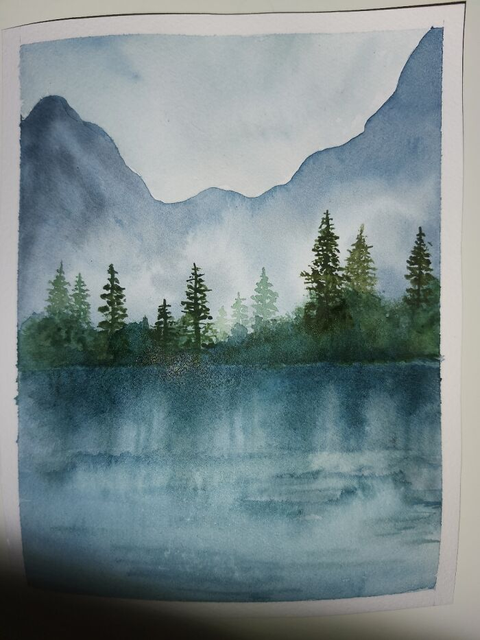 Started Painting With Watercolor And Enjoy It