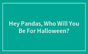 Hey Pandas, Who Will You Be For Halloween?