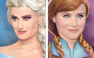Illustrator Draws Disney Characters Looking Like The Actors Who Voiced Them (8 Pics)