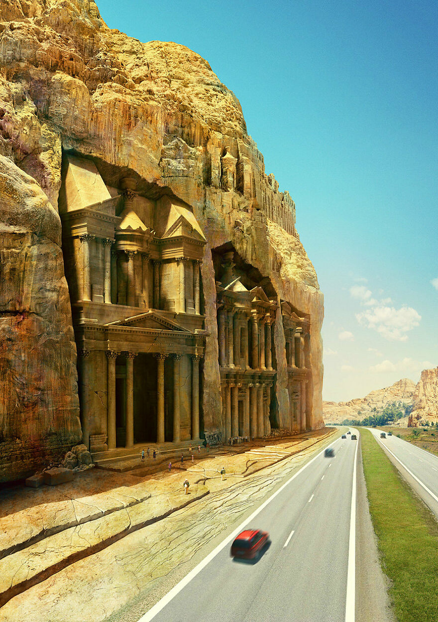 The Great Temple At Petra