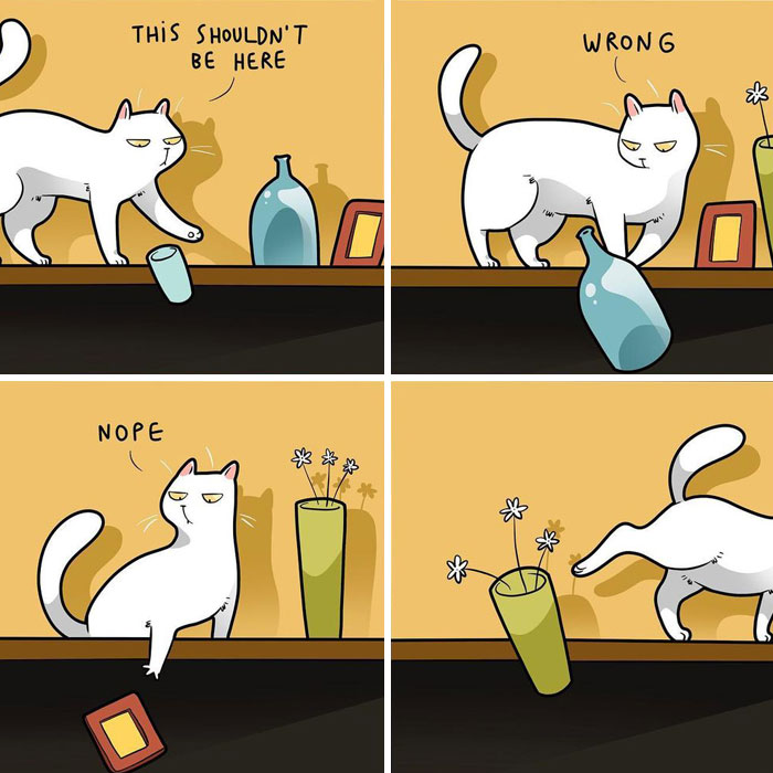 Artist Illustrates What It's Like To Live With A Cat (30 New Pics)