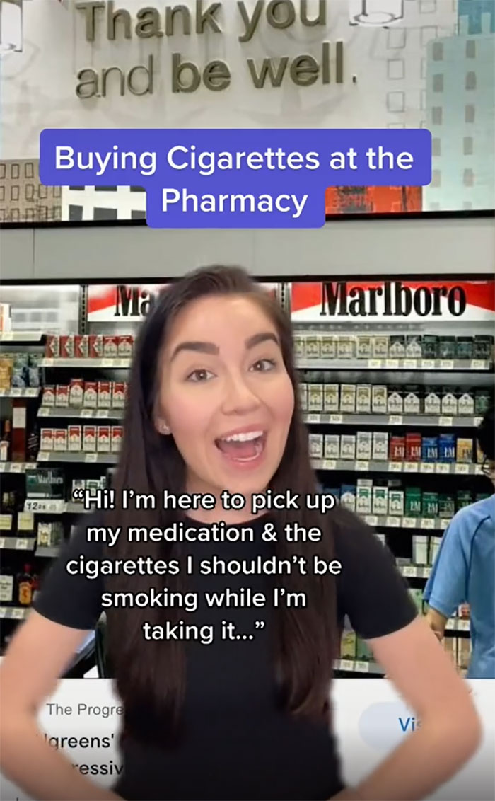 Buying Cigarettes At The Pharmacy