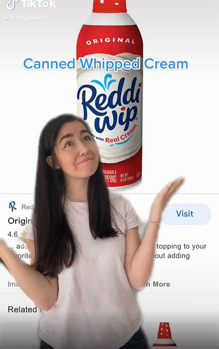 Canned Whipped Cream