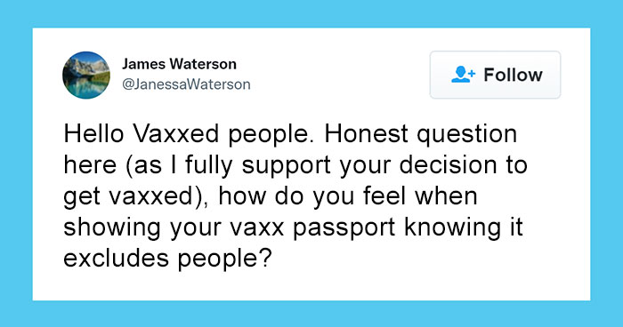 Man Asks Vaccinated People How They Feel About 'Excluding' The Unvaccinated – 33 People Give Honest Answers