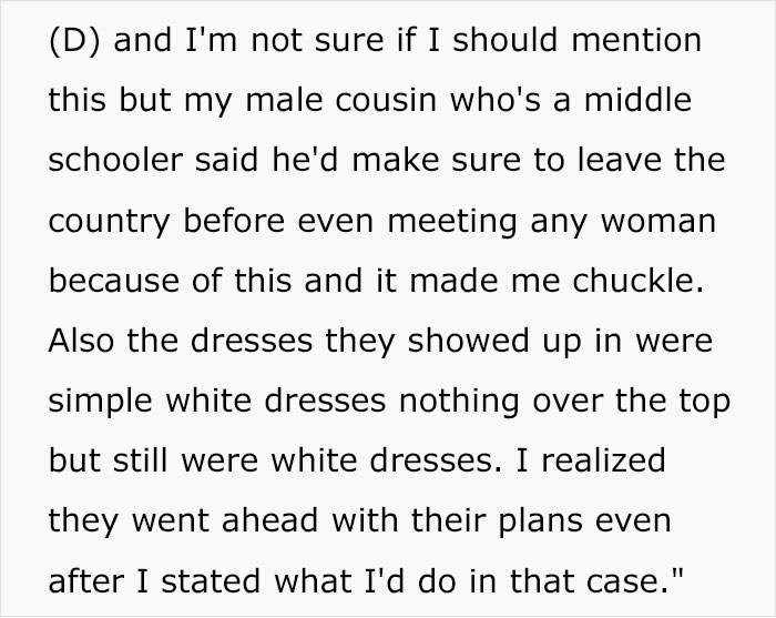 Groom Kicks All The Women Guests Out Of His Wedding For Showing Up In White As A 'Prank'