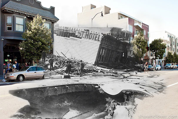Then And Now Blend Of The 1906 San Francisco Earthquake