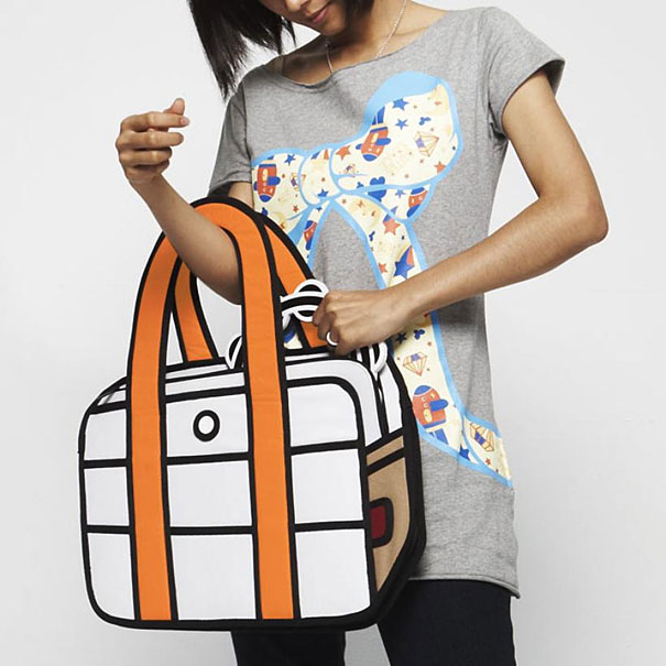 Jump From Paper: 2D Cartoon-like Handbags