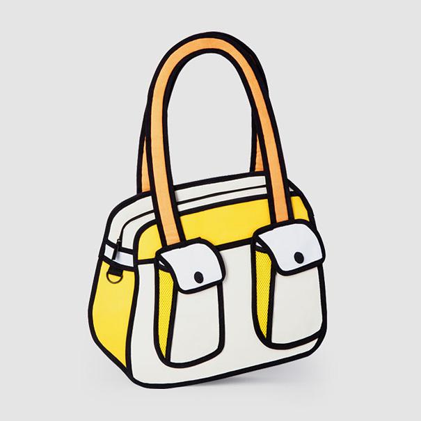 Jump From Paper D Cartoonlike Handbags Bored Panda - Cartoon handbags