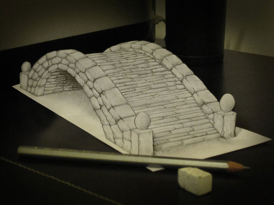 easy 3d drawings on paper - photo #25