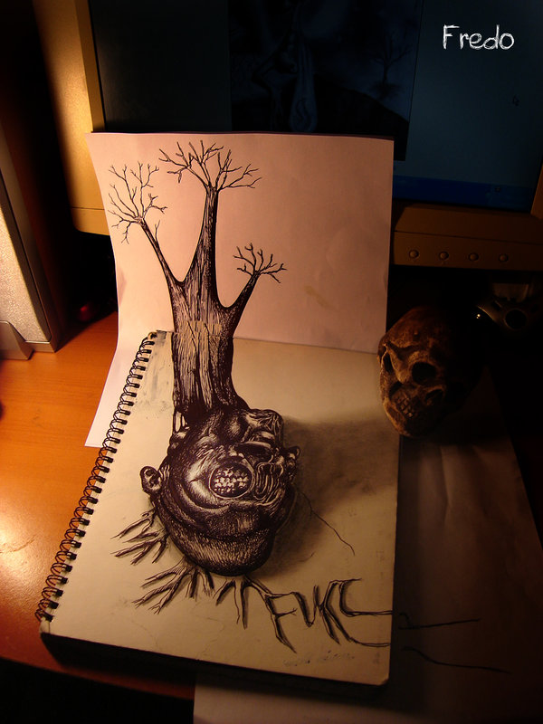 Amazing 3d Pencil Drawings By 17 Year Old Fredo Bored Panda