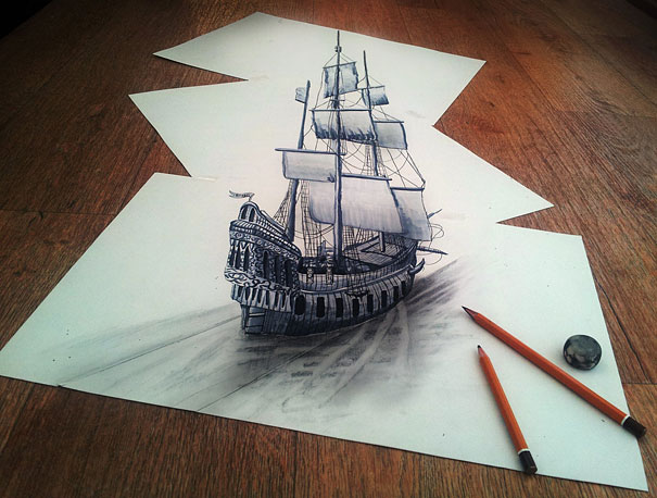 More 3D Pencil Drawings by Ramon Bruin