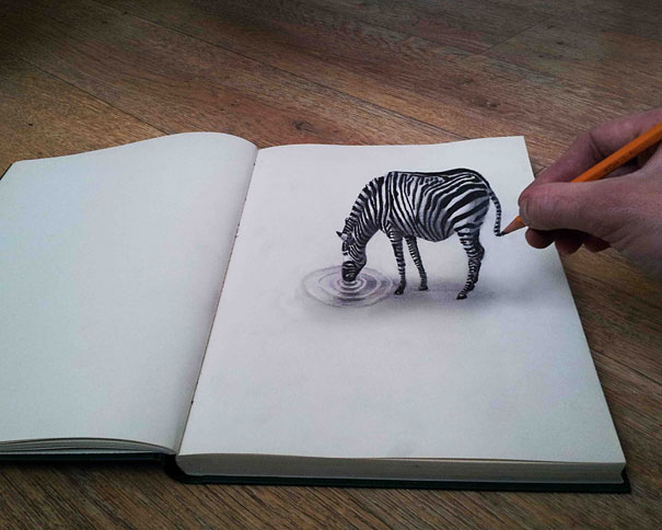 Animals Pencils Drawings 3D Images