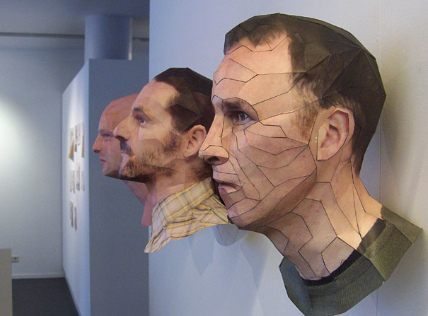 Realistic 3d Paper Portraits By Bert Simons Bored Panda