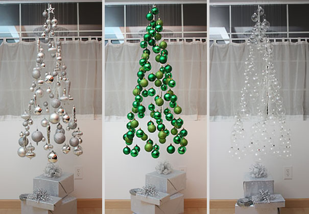 22 creative diy christmas tree ideas bored panda 2 floating ornament christmas tree solutioingenieria Image collections