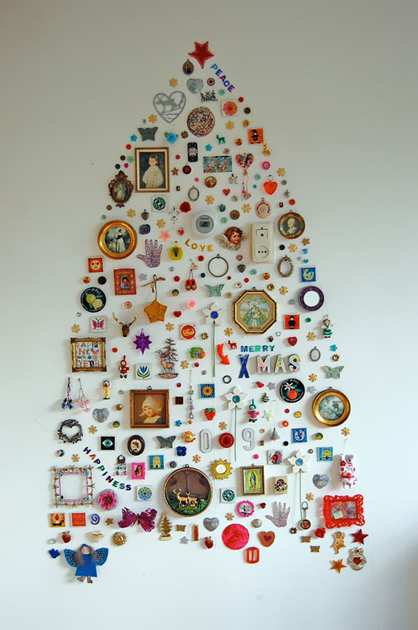 22 creative diy christmas tree ideas bored panda wall collection christmas tree solutioingenieria Gallery